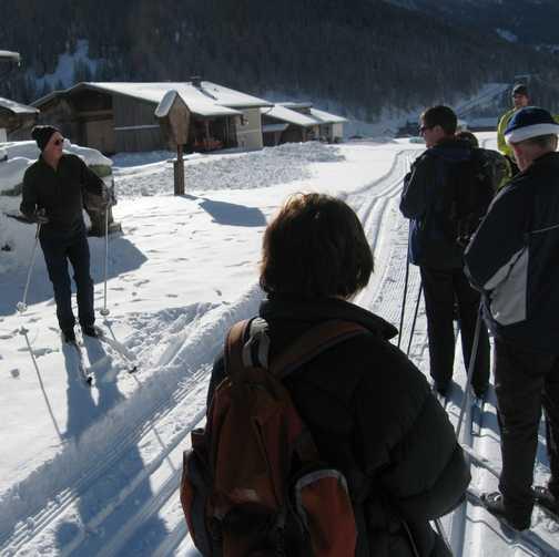 Day 3 Schmirn valley Bob instructing on taking avoid action