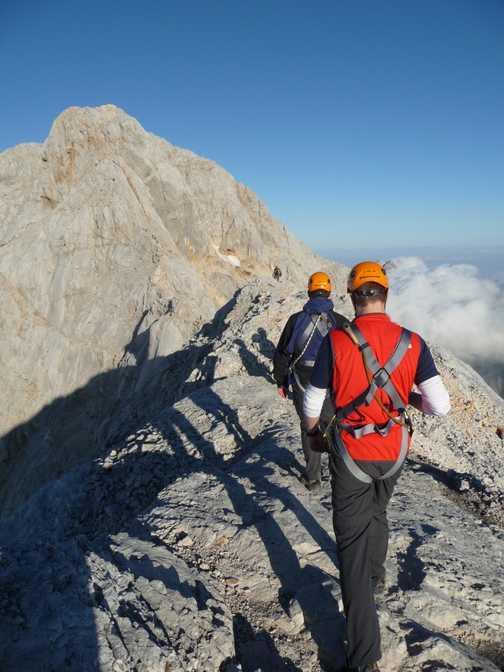 Day 5 - Walking along the ridge line to the next Via Ferrata pitch