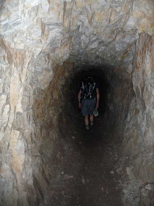 Day 1 - Inside the short tunnel (built for the Duke to ride on his horse!)