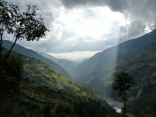 Valley near Landruk