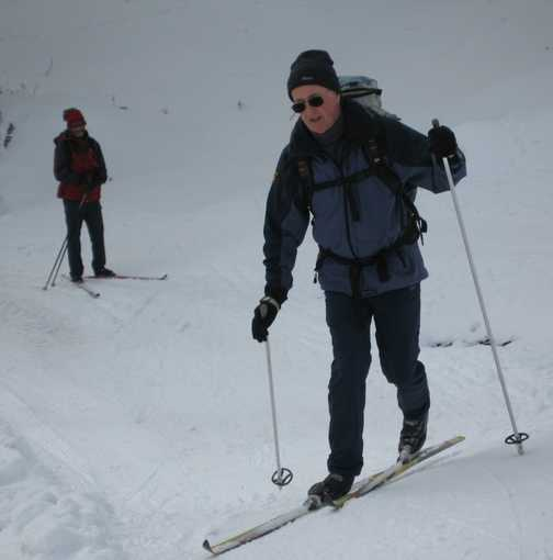 Day 6 Mariawaldrast Bob showing us how to go up a steep slope