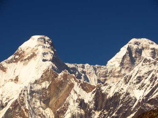 Nanda Devi East with ridge