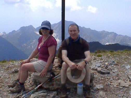 Bridget & Tony summit Monte Sombre