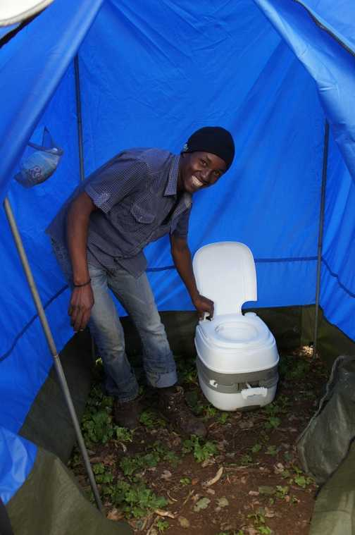 Loo tent - will actual flush!