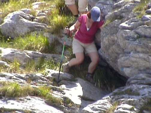Bridget rock climbing Mt Sombre