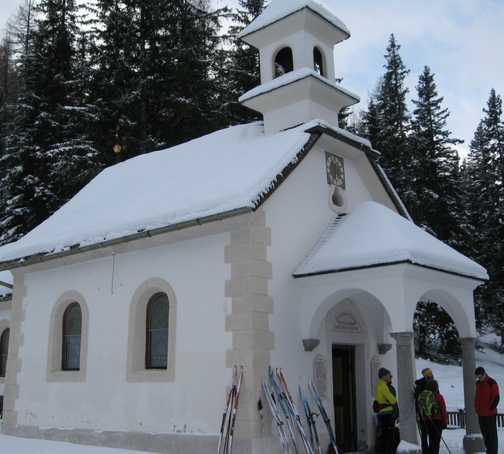 Day 5 Schmirn valley Bob translating Kirche inscription