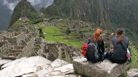 Teenagers on the Inca Trail