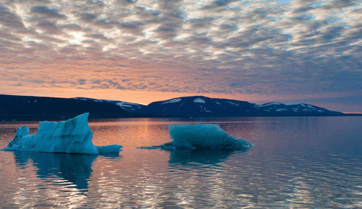 Evening light in Svalbard