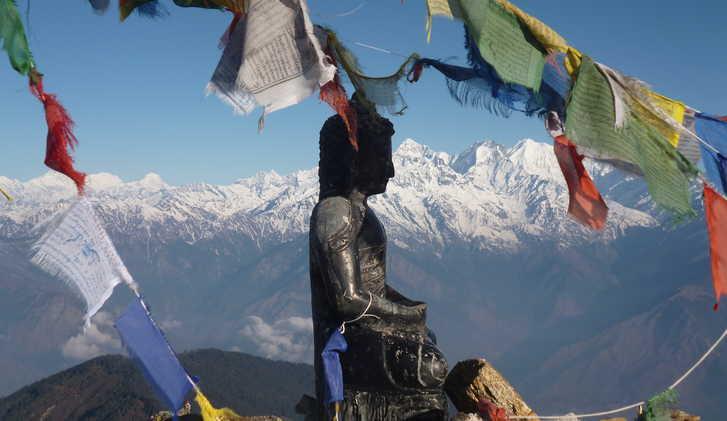 Statue near Laurebenayak, Langtang Trek, Nepal