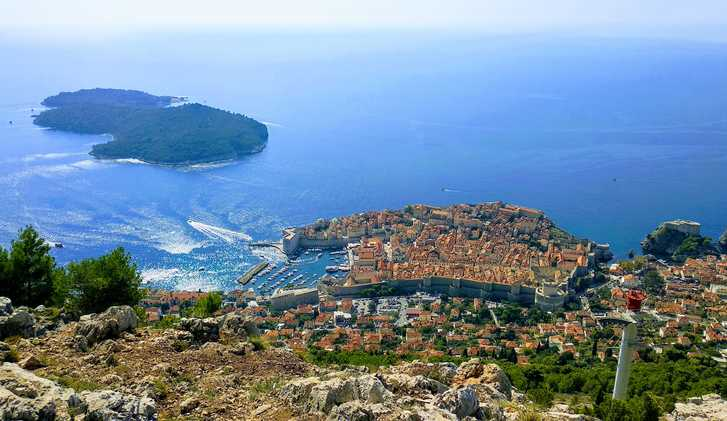 Dubrovnik, as seen from Srd