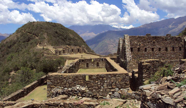 Lost city of Choquequirao, Andes, Peru