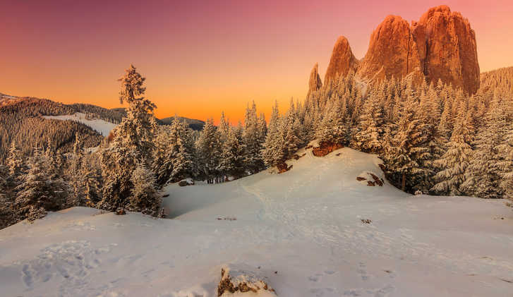 Carpathians sunset, Transylvania, Romania