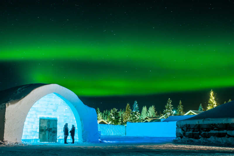 The world famous Icehotel at Jukkasjärvi