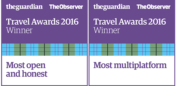 The Guardian & Observer Travel Awards: Most Open and Honest and Most Multiplatform Travel Awards 2016